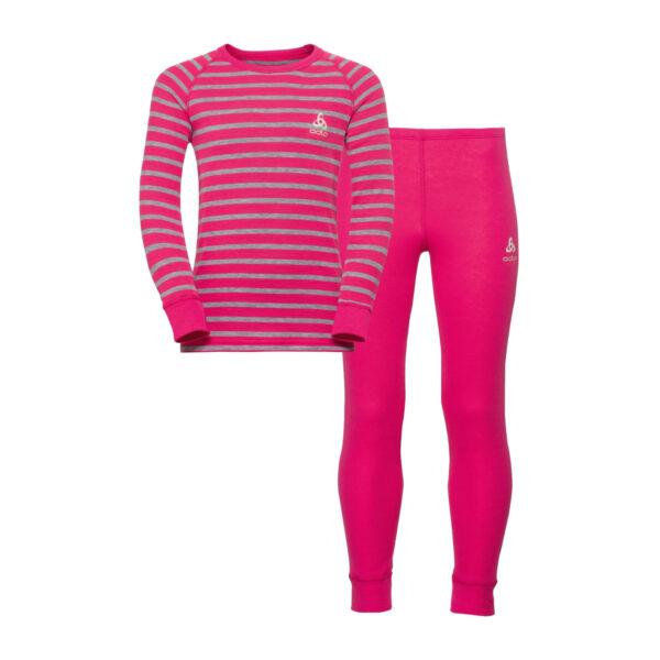 Odlo Dječji Set Or Warm Pink