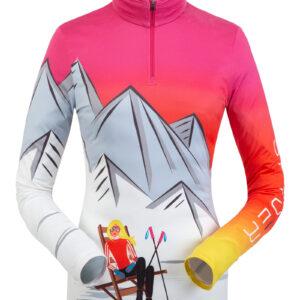 Spyder ženka majica Sunset Zip T-Neck Bry
