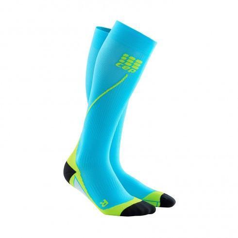 CEP komp čarape pro+ 2.0 hawaii blue/green