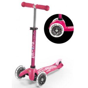 Micro romobil Mini deluxe pink led