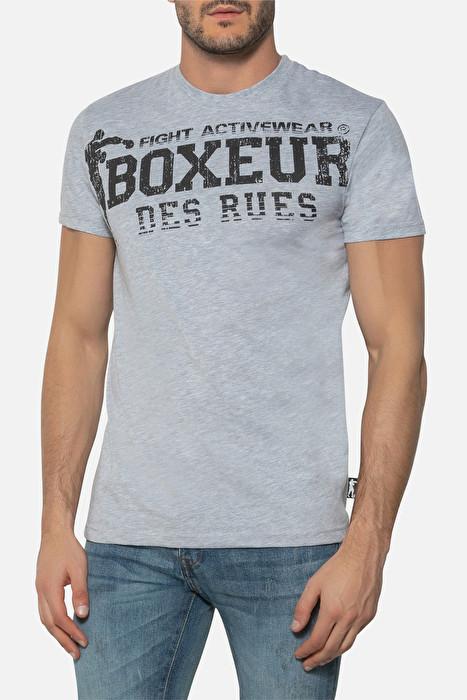Boxeur majica kratki rukav grey melange