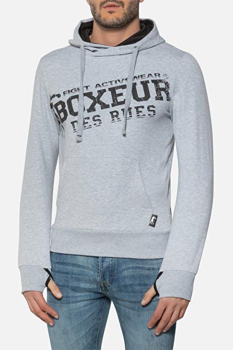 Boxeur majica s kapuljačom grey melange