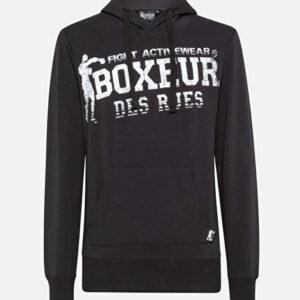 Boxeur muška majica s kapuljačom black
